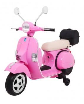 Elektrická motorka / skúter Vespa ružová